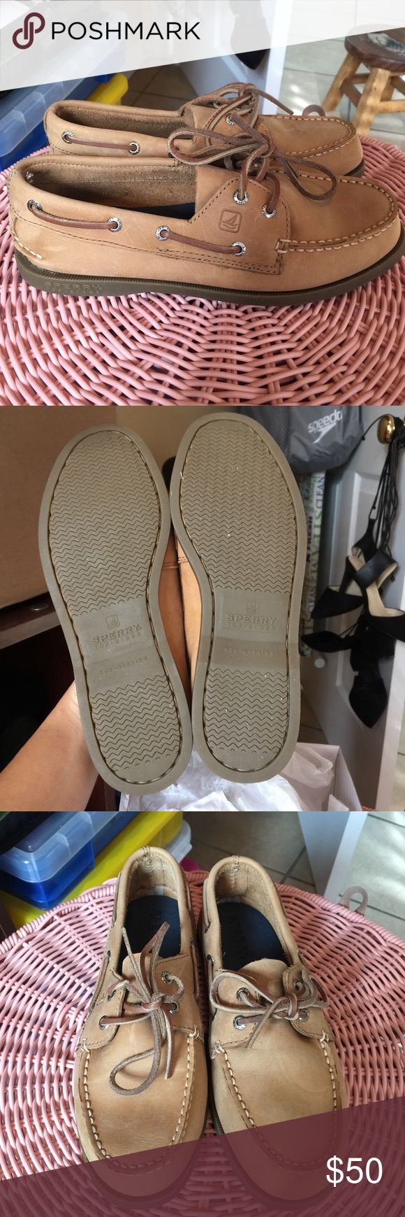 BOYS SPERRYS Like Brand New All the details are in the picture. Make me an offer. Happy Poshing! Sperry Top-Sider Shoes Dress Shoes