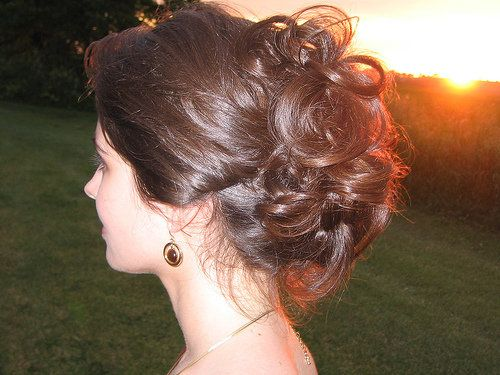 Triple love....are you getting that I love this style?? hehe  Hair, Updo, Curly, Messy