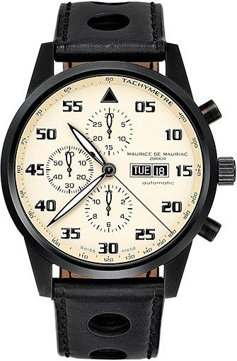 Chronograph Modern watch from Swiss Watchmaker Maurice de Mauriac. Swiss watches for men. swiss watches women. Visit our website for more luxury swiss watches: