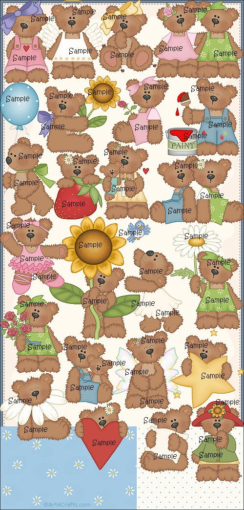 Craft Clipart 50: Beary cute