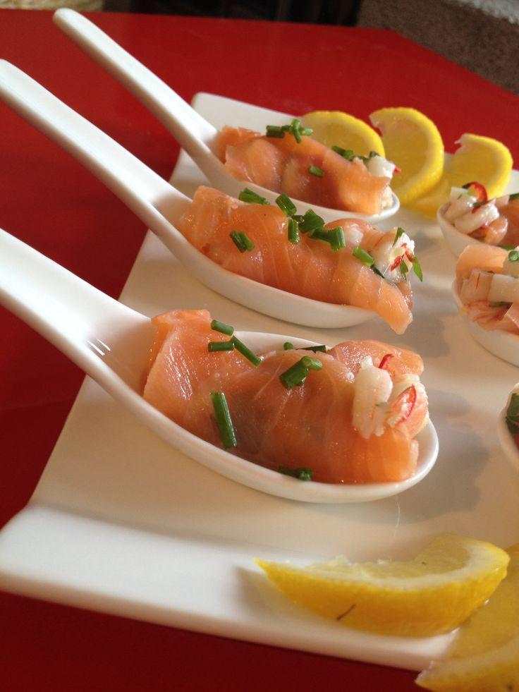 Amuse met garnalen en zalm - Maaikes Food !