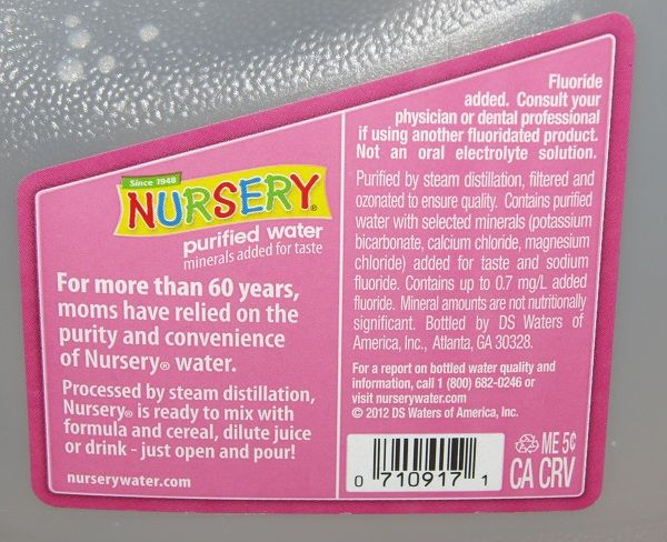 'Nursery water' sold at Wal-Mart found to contain substance the media calls a 'chemical weapon' (sodium fluoride)