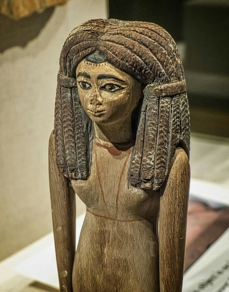 Wooden figurine of unknown woman from Dynasty Xll.