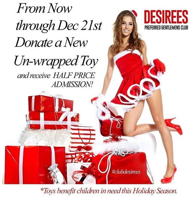 @desireesclub #desireesclub Help us make a difference this Holiday Season! We have 20 families in need of toys this Christmas. Bring a new un-wrapped toy in now through December 21st and get 1/2 OFF admission. #stripclubs #specials #stripclub #nightlife #strippers #showgirl  #lapdance #femalestrippers #bottles #adultentertainment #poledance #latenight #drinks #drink #entertainment #sanangelo