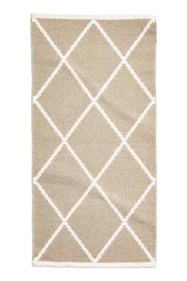 Хлопковый ковер: Прямоугольный жаккардовый ковер из хлопковой ткани с добавлением блестящих нитей.