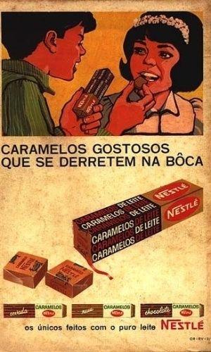 Os Caramelos de Leite da Nestlé vinham embalados um a um. Havia versões também de chocolate e coco