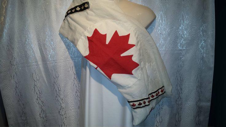 Canada Appliqued scarf by Scarfgoroundboutique on Etsy