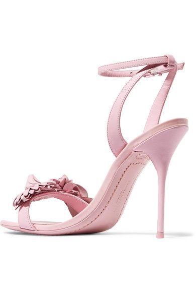 Sophia Webster - Lilico Appliquéd Leather Sandals - Pink