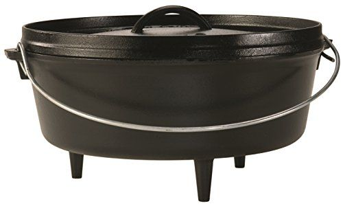 Cast iron Dutch ovens are the cornerstone of campfire cooking equipment. We have several ovens in multiple sizes and like using our 6 Qt Dutch Oven for camping meals that are smaller and they also work well when stack cooking.
