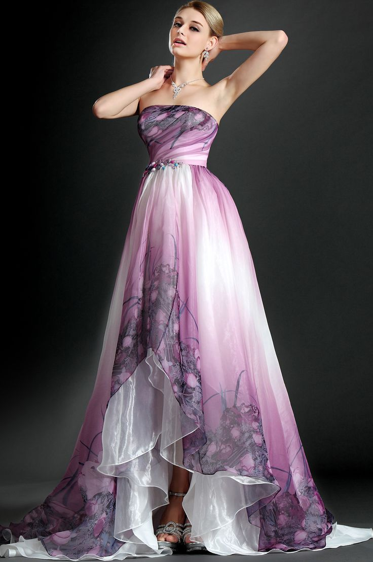 lavender wedding dresses edressit 2012 new strapless printed evening dress my 5421