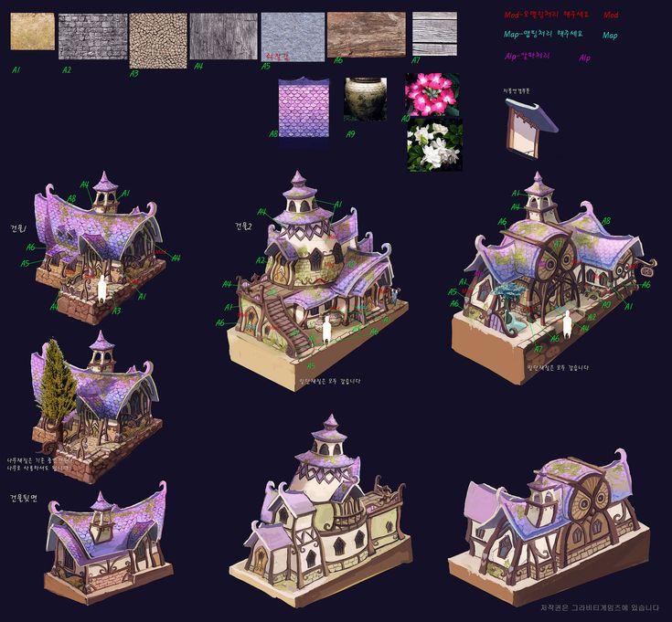 ArtStation - Old concept- House, Il su Ko