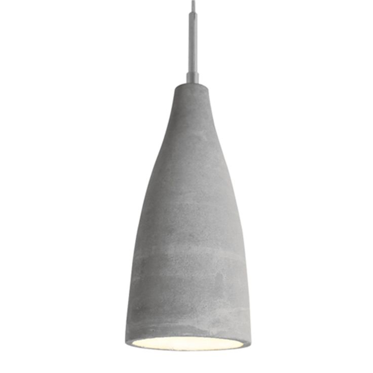 Namur taklampa i betong från By Ryéns med ljus insida för bra ljusreflektion.