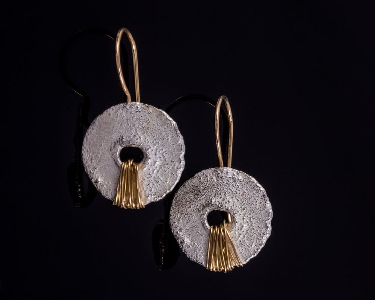 Silver hammered disk earrings, Vers. 2 - Sterling silver, Gold-filled silver by JackAssayagJewelry on Etsy