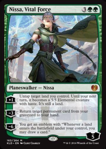 Nissa, Vital Force Kaladesh Magic the Gathering card