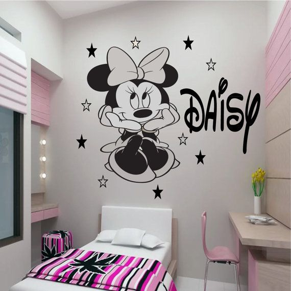 Disney Minnie Mouse 300mmH x 220mmw & 300mm Name by JRDecal