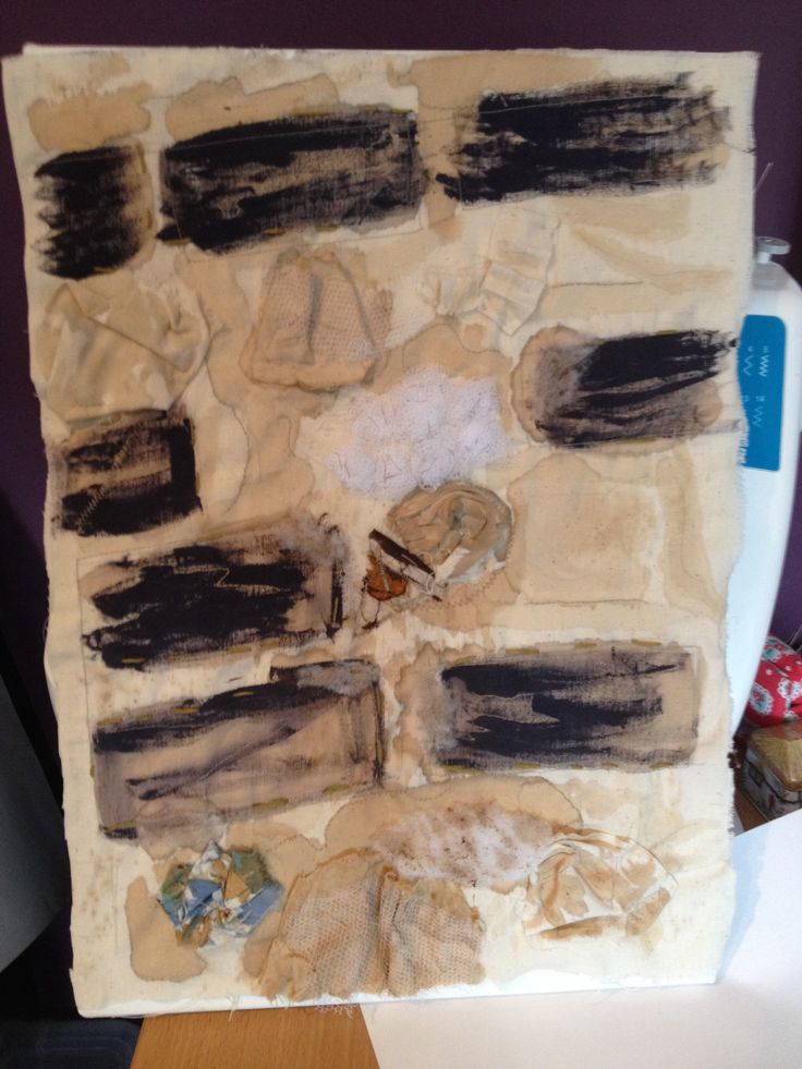 Textiles piece/stone wall, testing with different fabrics  -hand stitch  -embroidery  - appliqué  - machine stitch  -fabric paints