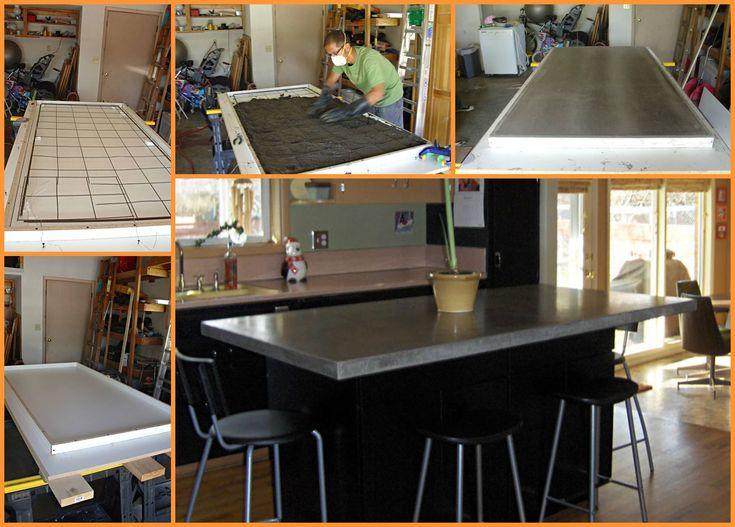 Love this DIY Concrete Countertop