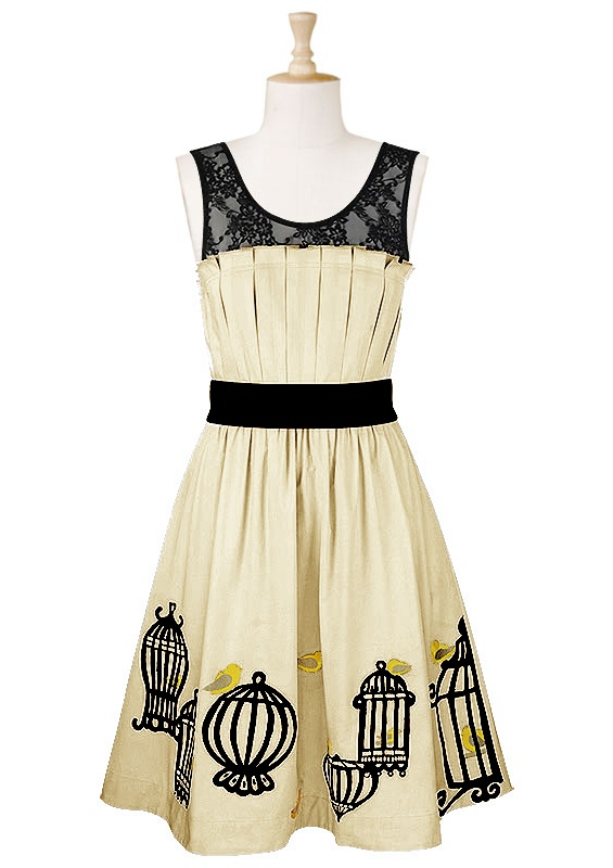birdcages and birds on the skirt!Birds Cages, Fashion Dresses, Cages Dresses, Style Inspiration, Birdcages, Shower Dresses, Style Pinboard, Bird Cages, Amazing Dresses