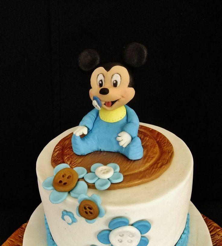 Bebek Mickey Mouse pastası