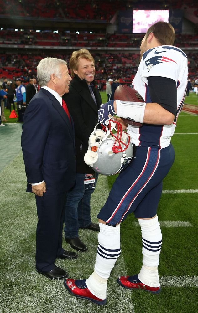 Patriots- Robert Kraft, Tom Brady & Jon Bon Jovi - I'm in heaven!