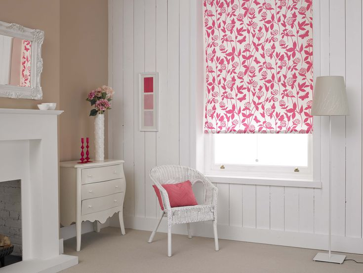 Pretty pink window blind