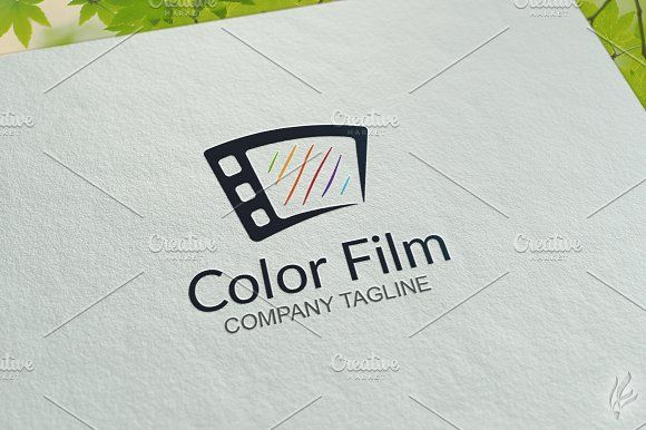 Color Film - Logo Template by GoldenCreative on @creativemarket