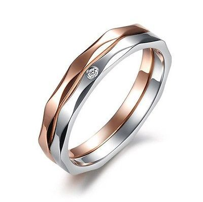 Titânio de Anel Amantes R124 Promessa De Aço Anel Bandas De Casamento Casal presente por atacado