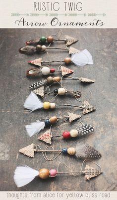 Handmade Rustic Twig Arrow Ornaments | DIY Christmas Crafts