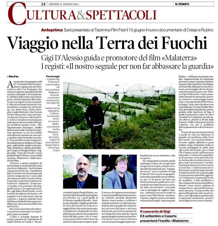 #Docufilm #Malaterra - Gigi D'alessio - Ambrogio Crespi Sergio Rubino  #terradeifuochi  #doc