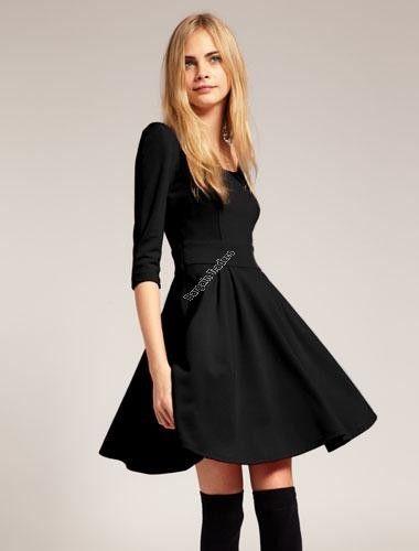 Elastic Tailored Dress - black