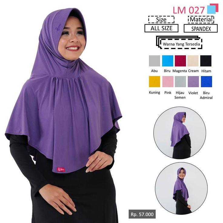 LM 027 Lamia Hijab - Kerudung Bergo Syar'i bahan kualitas premium, nyaman dipakai dan anti gerah. Material : Spandex. Size : All Size. #lamiahijab #hijabindonesia #kerudunginstan #bergo