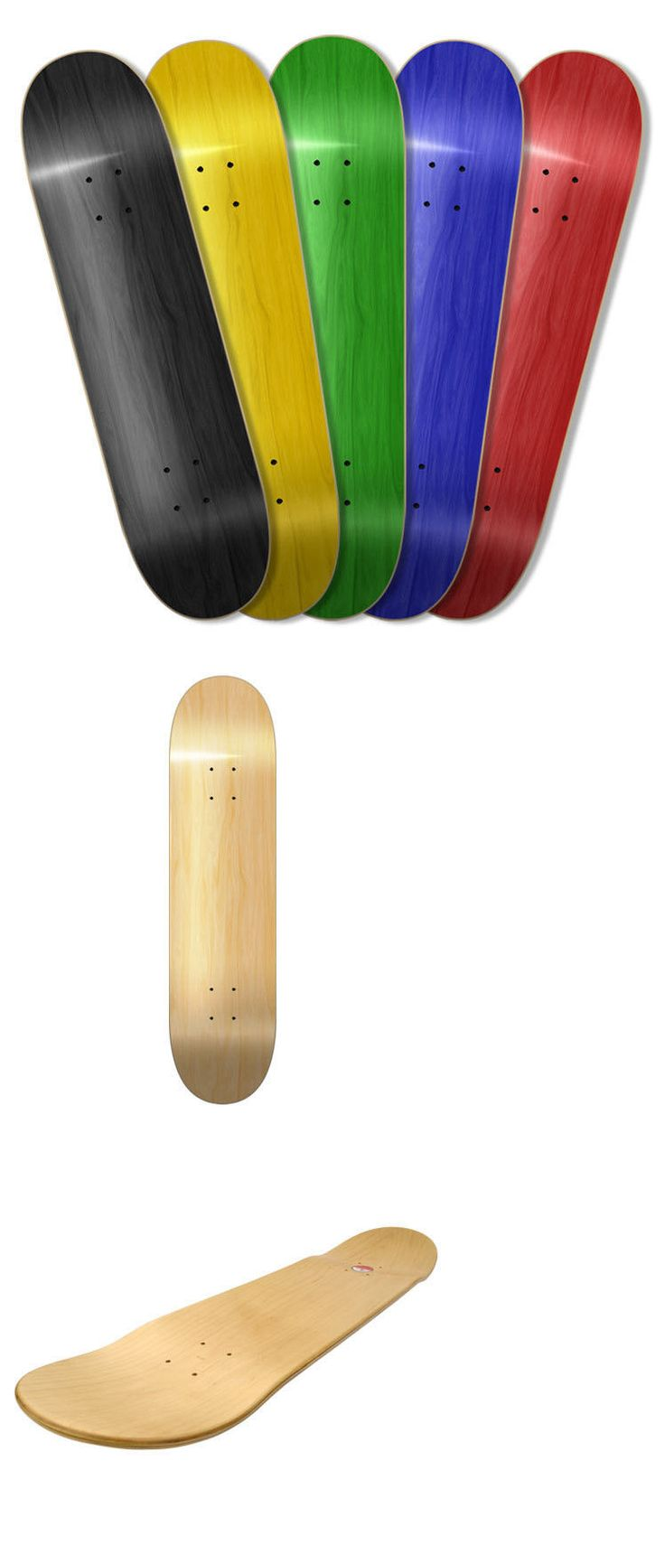 Decks 16263: 5 Assorted Blank Skateboard Decks /W Griptape Availble In 7.5 7.75 8.0 8.25 -> BUY IT NOW ONLY: $45.99 on eBay!