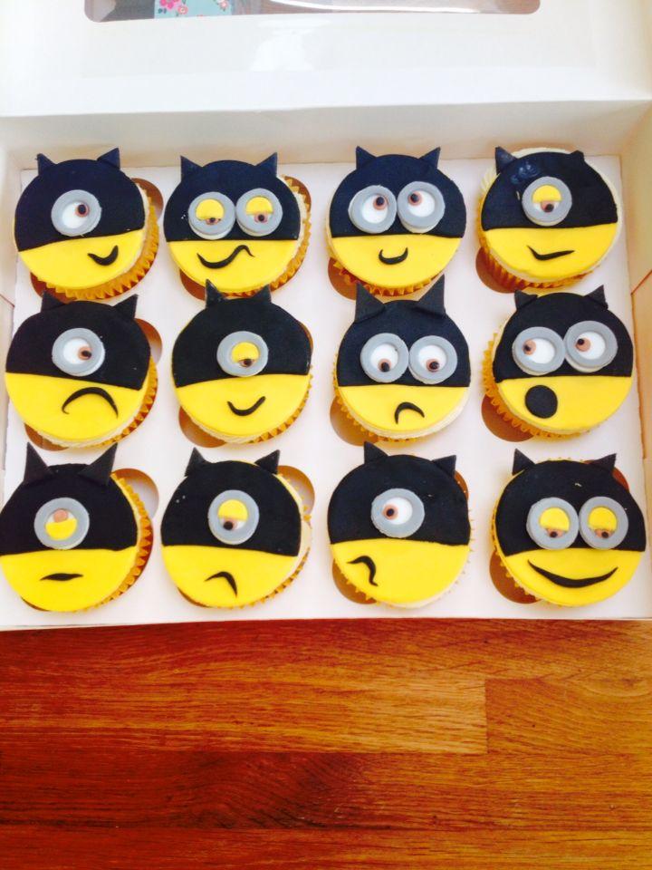 8/29/15 & 9/5/15. Batman minion cupcakes. Also made Robin and Catwoman.