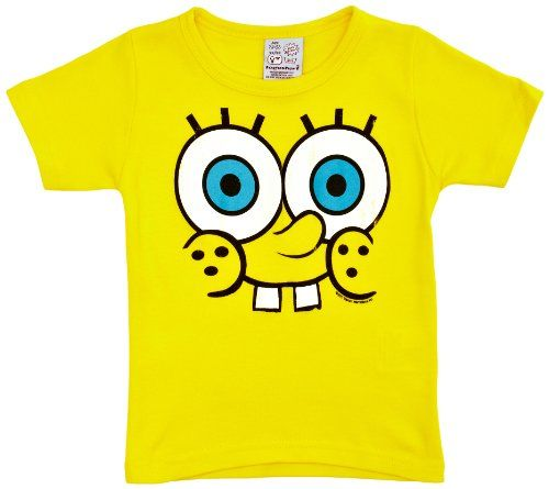 Logoshirt - Camiseta de Bob Esponja con estampado con cuello redondo para niño #camiseta #friki #moda #regalo