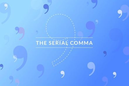 The serial comma.