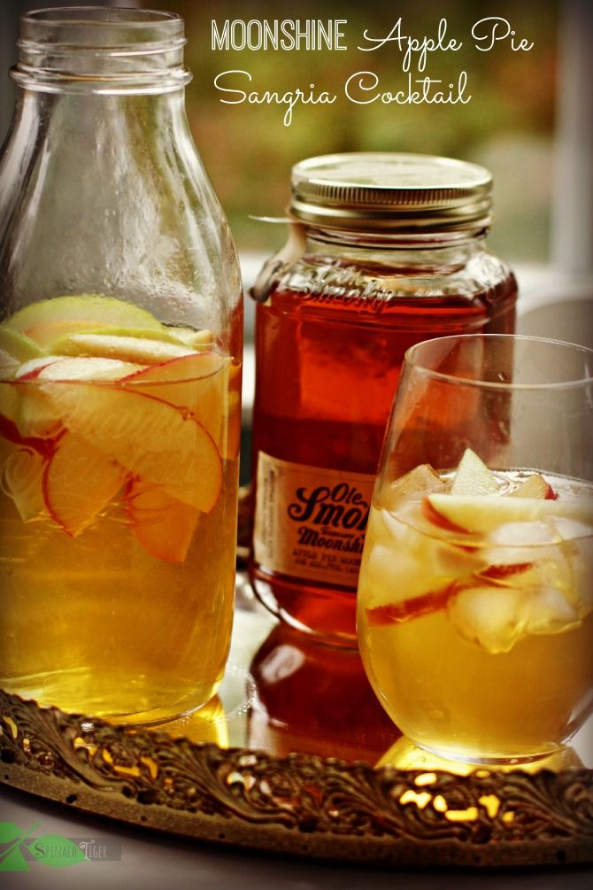 Apple Pie Moonshine Sangria Cocktail with Ole Smoky Apple Pie Moonshine by Spinach Tiger