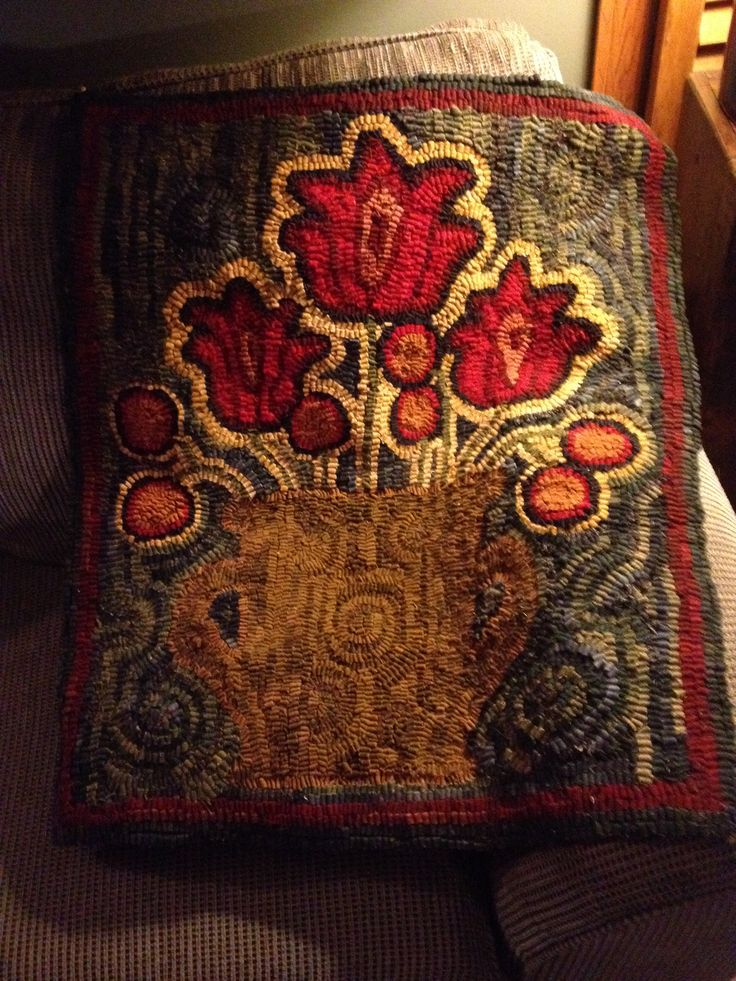 17 Best Images About Hooked Rugs Folk Art Landing On