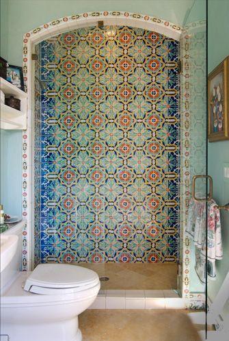 Handmade Ceramic Tiles: Mizner Industries Hand Painted Ceramics Designs Custom Trim Field Kitchens Bathrooms Spas Pools Murals Fountains Italian Spanish Portuguese Dutch Mediterranean