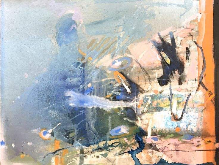 ELAINE d'ESTERRE - Lake Mungo Origins, 2016, oil on canvas, 50x70 cm. Also at http://elainedesterreart.com and http://www.facebook.com/elainedesterreart/ and http://instagram.com/desterreart/ SOLD