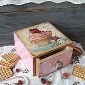 Для дома и интерьера ручной работы. Ярмарка Мастеров - ручная работа Короб деревянный   Сладости  в винтажном стиле,в стиле ретро. Handmade.