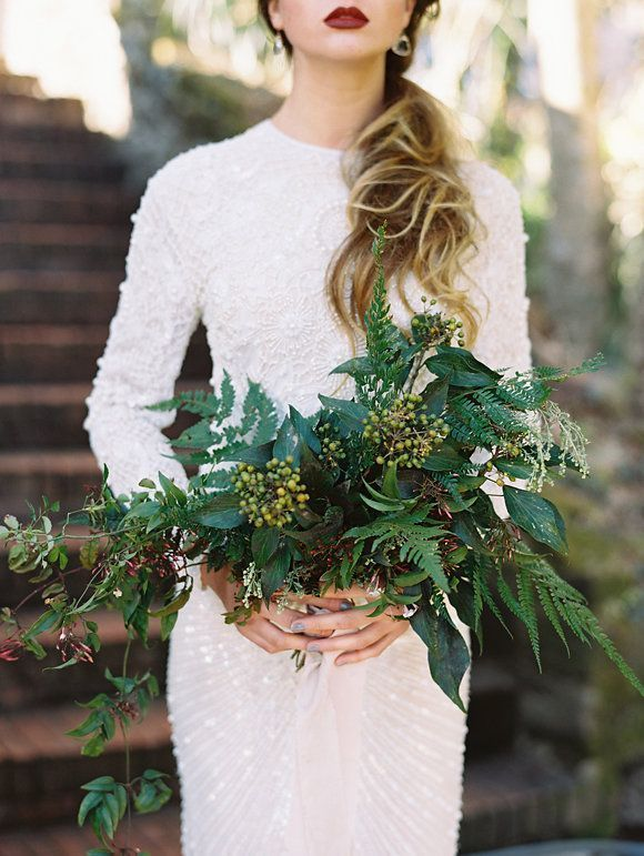The Pinterest 100: Style; Winter white weddings.