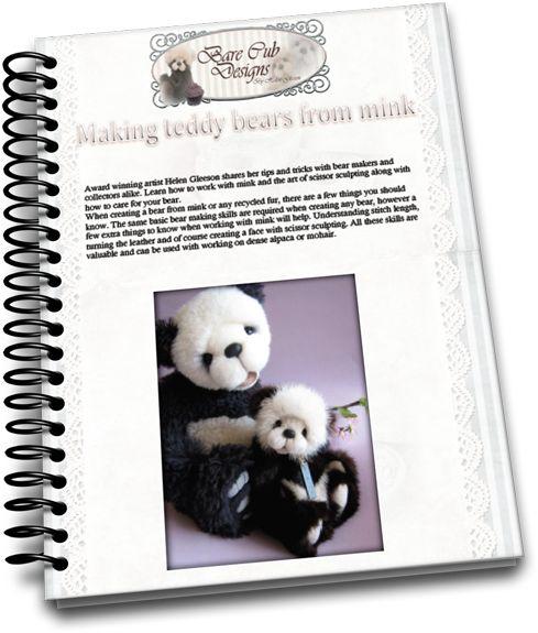 Learn how to make mink teddy bears