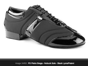 "Pietro Braga Dance shoes Nobuck sole the new material for the best performance. ""neoprene actiwear traspirante"""