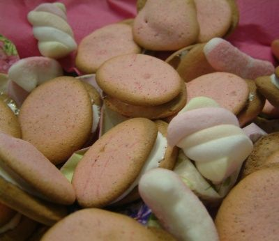 Whoopies roses marshmallow