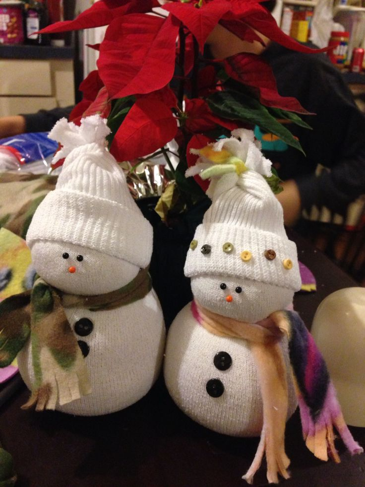 sock snowman filling sock snowmen filled with rice family craft