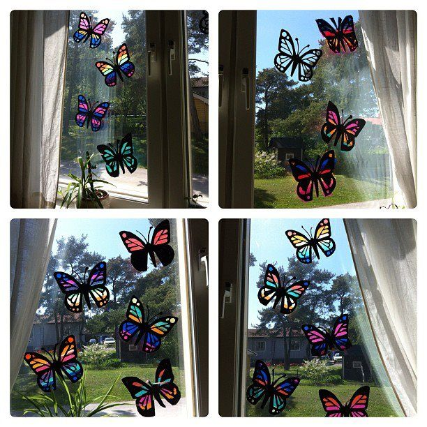 Fjärilar av silkespapper   Emma