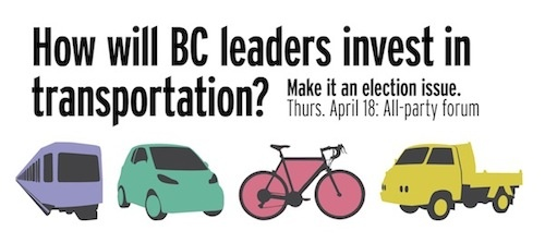 Next Generation Transportation: All-Party Forum April 18th