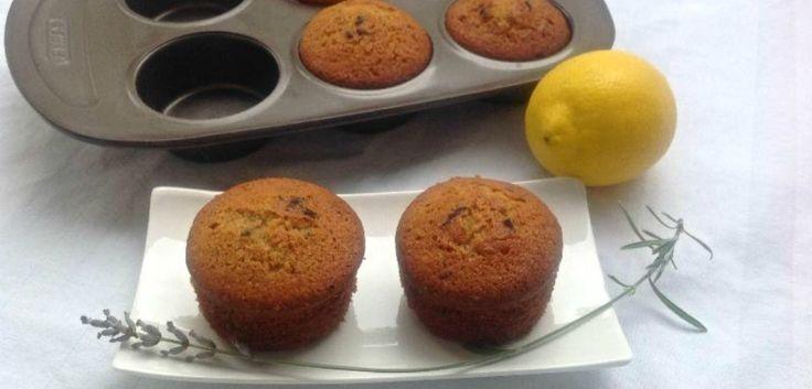 Muffins citron, miel et lavande (sans gluten)
