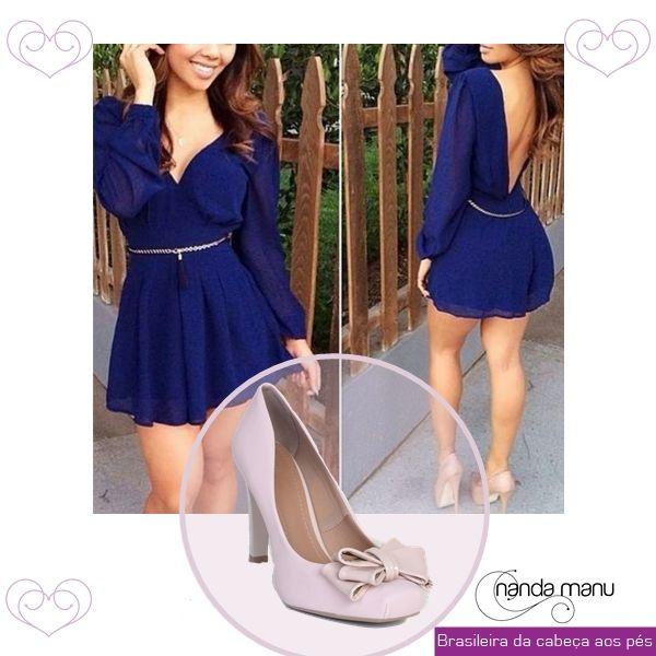 Look do Dia 09/04 > Vestido Azul + Scarpin Rosa <     Link do Scarpin: http://www.nandamanu.com.br/sapatos/scarpins/scarpin-salto-medio-rose-4627-2667    Preço: R$89,90    Marca: Nanda Manu  >  #calcado #lookdodia #look #moda #tendencia #scarpin #mulher #feminino