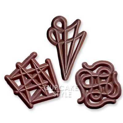 Chocolate Cake Decoration Templates : 17 best images about Choc Filigree Designs on Pinterest ...